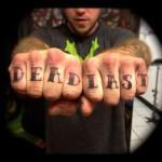 dead last finger tattoos