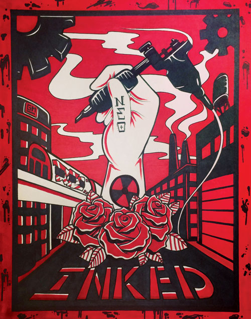 11″ x 14″ Inked Propaganda Print