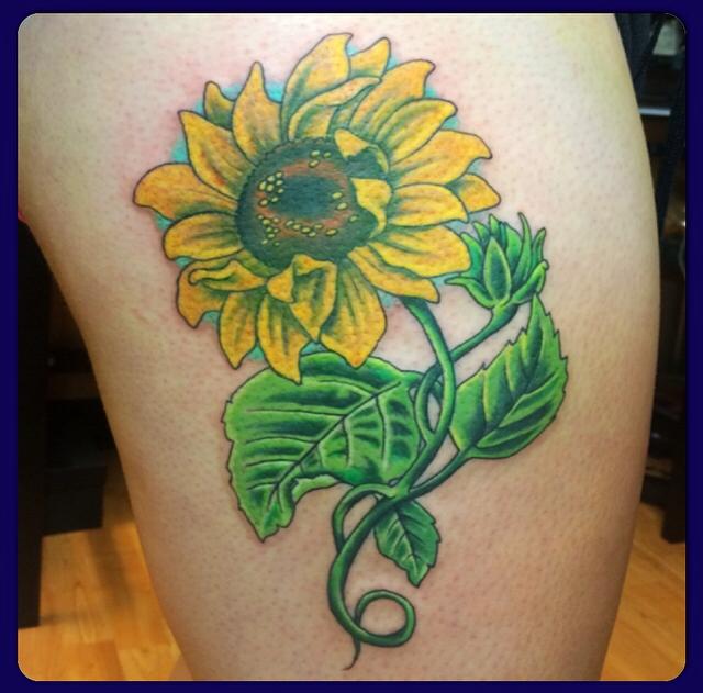 Sunflower thigh piece