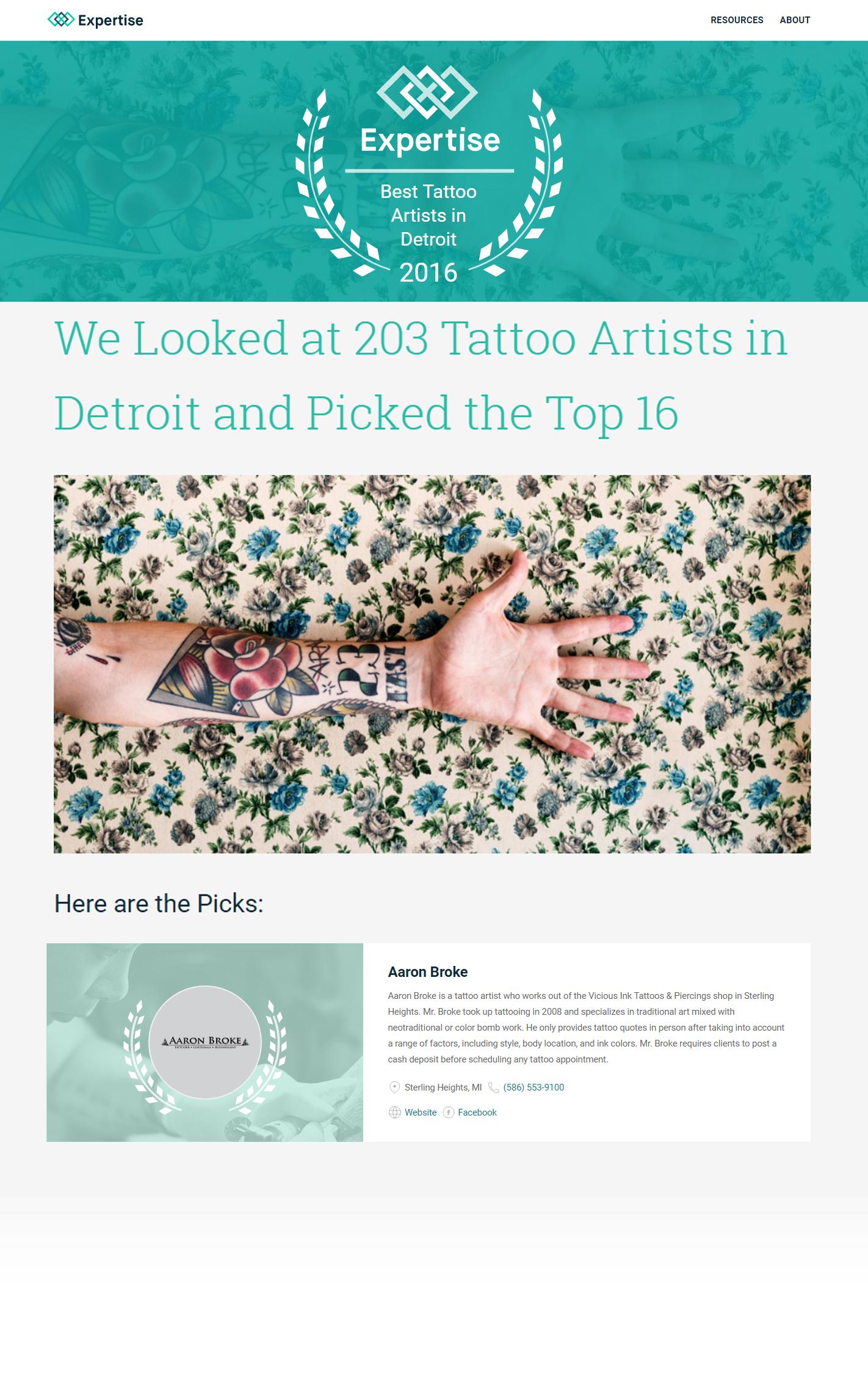 best tattoo artist in detroit michigan