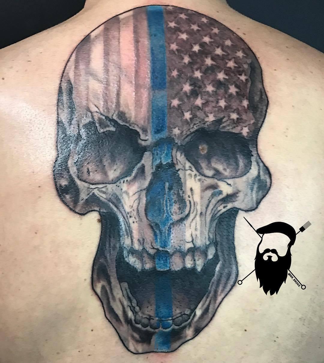 Thin Blue Skull
